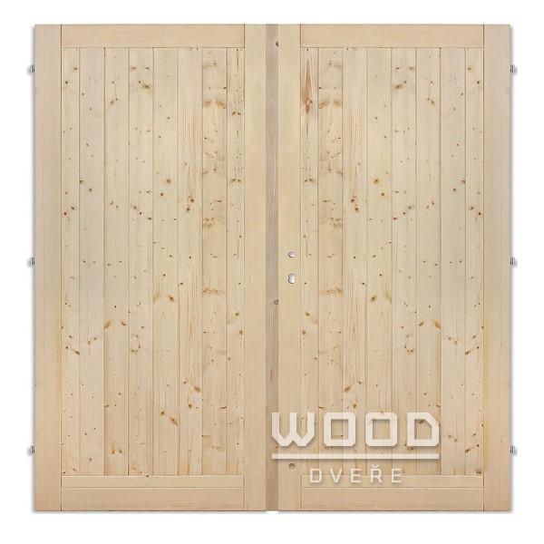 Palubkové dveře dvoukřídlé 125 cm...