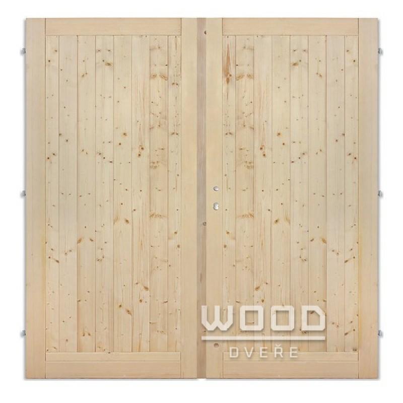 Palubkové dveře dvoukřídlé 180 cm plné