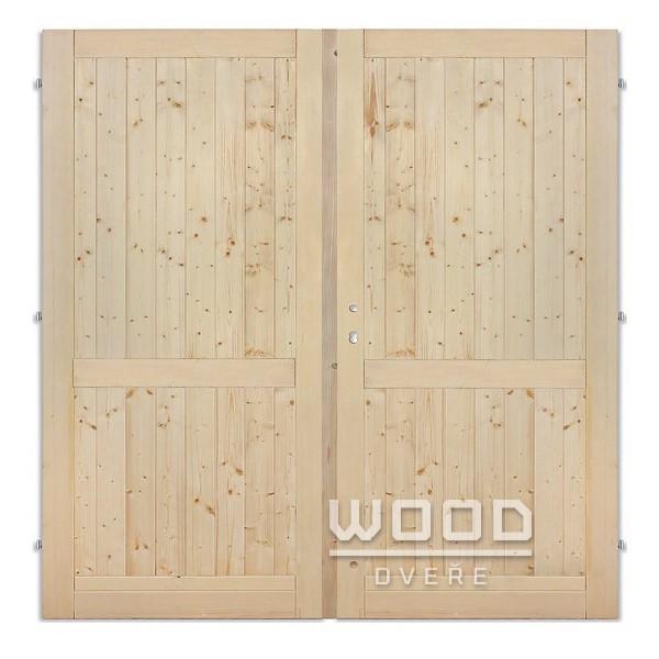 Palubkové dveře dvoukřídlé 145 cm p...