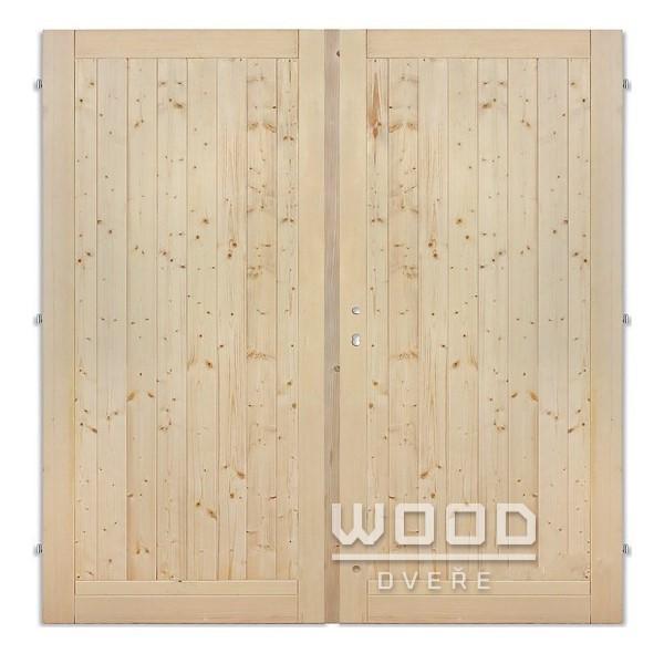 Palubkové dveře dvoukřídlé 145 cm...
