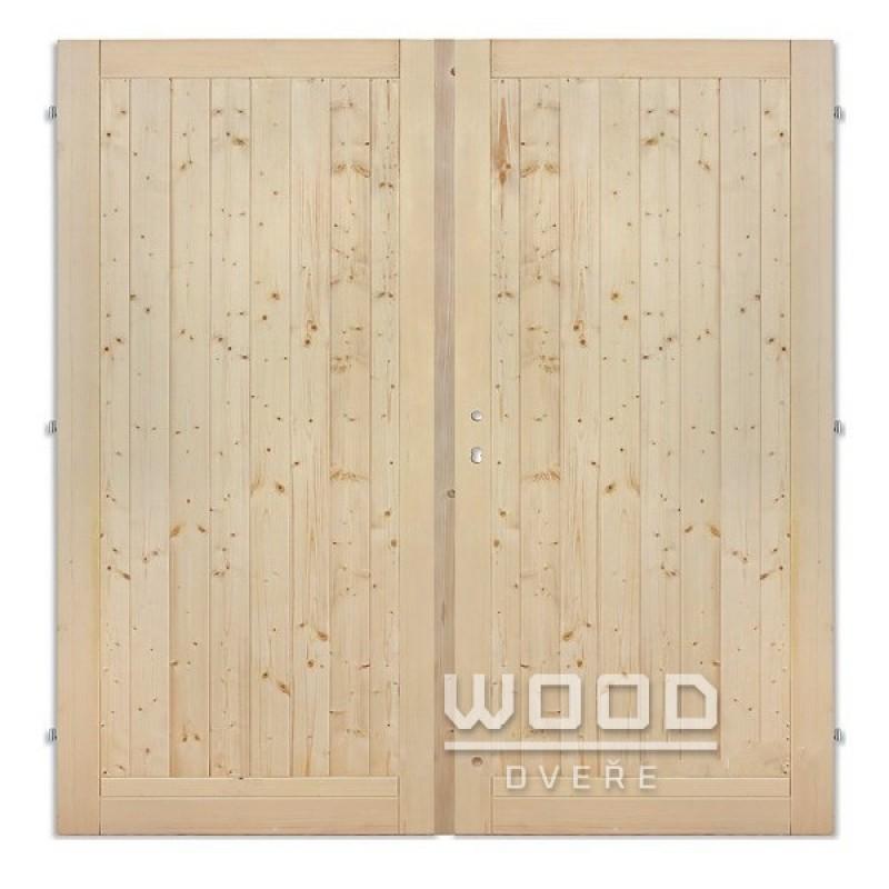 Palubkové dveře dvoukřídlé 145 cm