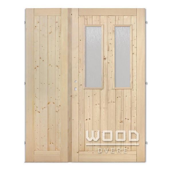 Palubkové dveře dvoukřídlé 125 cm 2...