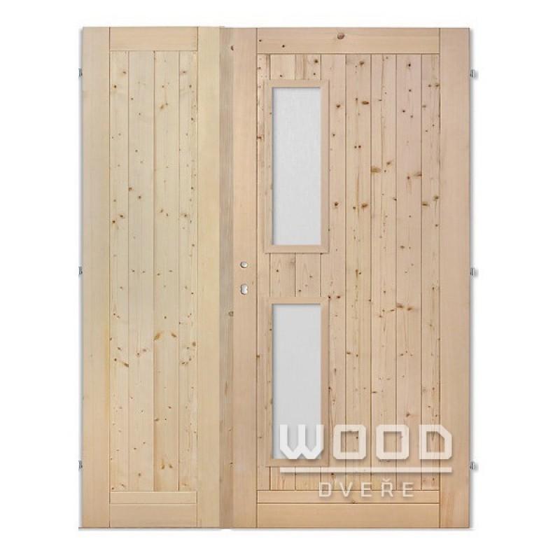 Palubkové dveře dvoukřídlé 125 cm Vertikal
