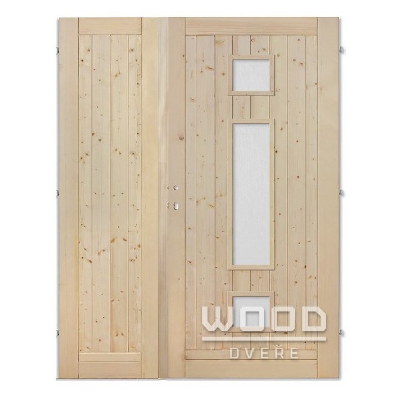 Palubkové dveře dvoukřídlé 125 cm Trio mix