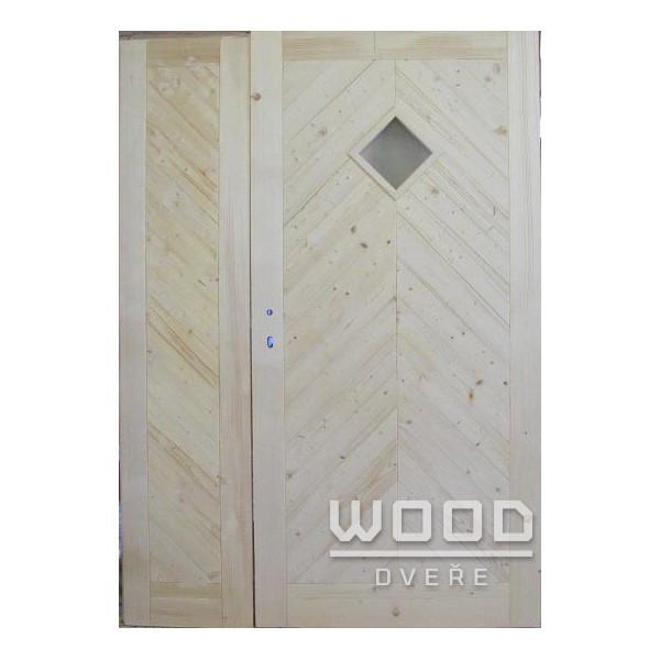 Palubkové dveře dvoukřídlé 125 cm K...
