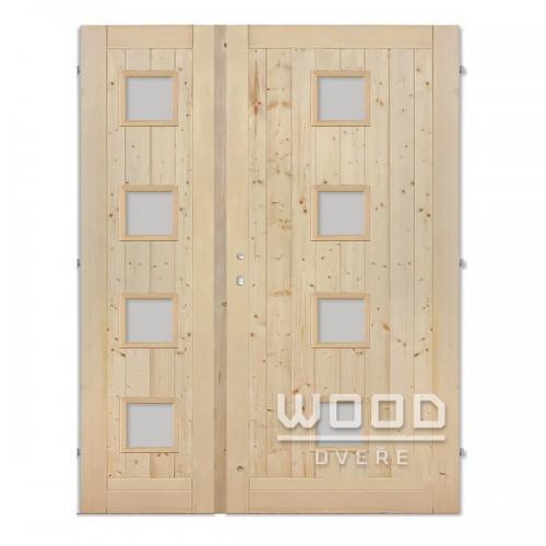 Palubkové dveře dvoukřídlé 125 cm Quatro duo střed