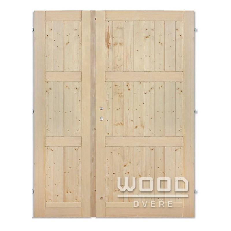 Palubkové dveře dvoukřídlé 160 cm Derde