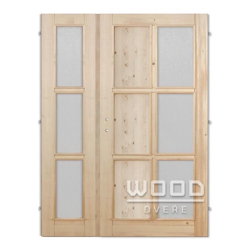 Interiérové dveře dvoukřídlé 145 cm Jasmína G/A