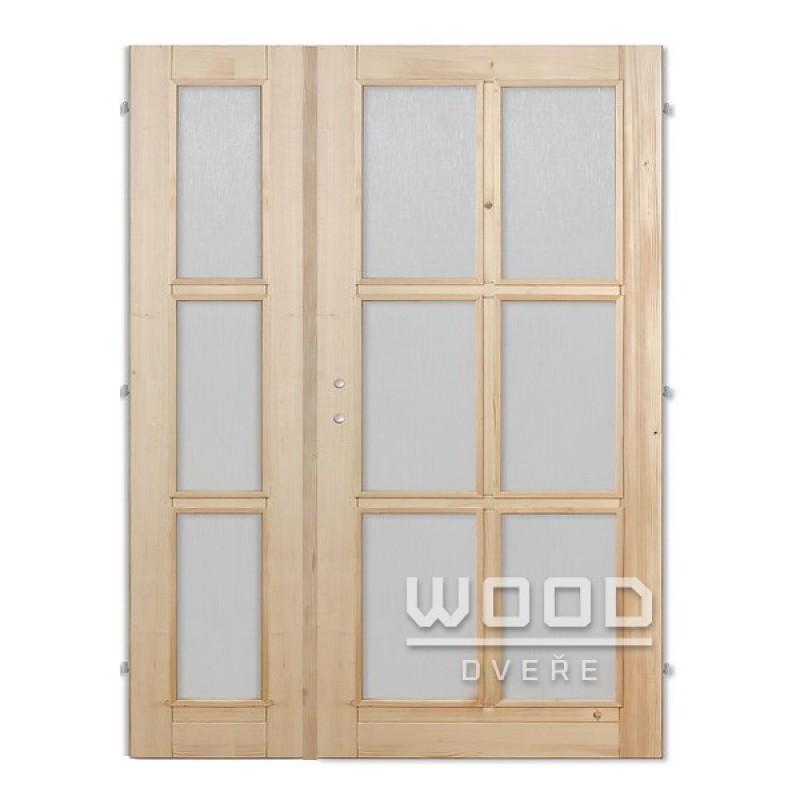 Interiérové dveře dvoukřídlé 145 cm Jasmína A/A