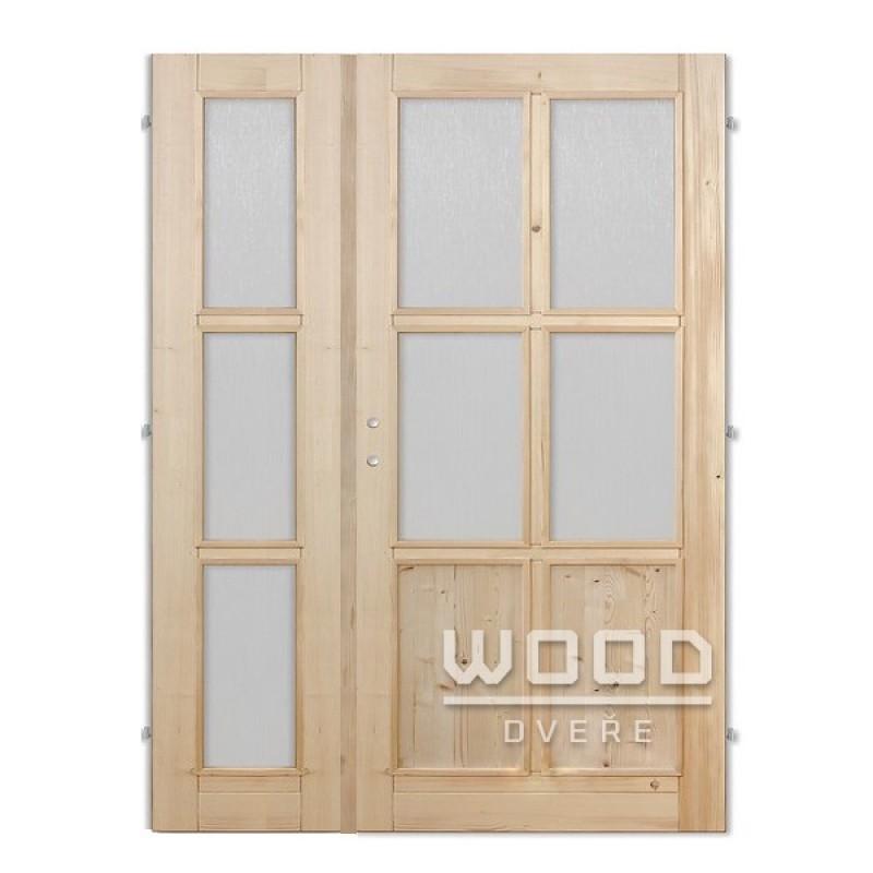 Interiérové dveře dvoukřídlé 125 cm Jasmína B/A