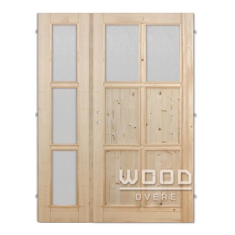 Interiérové dveře dvoukřídlé 125 cm Jasmína C/A