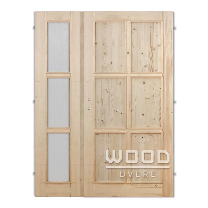 Interiérové dveře dvoukřídlé 125 cm Jasmína D/A