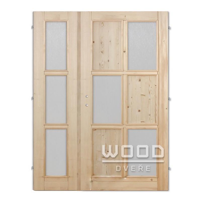 Interiérové dveře dvoukřídlé 145 cm Jasmína E/A