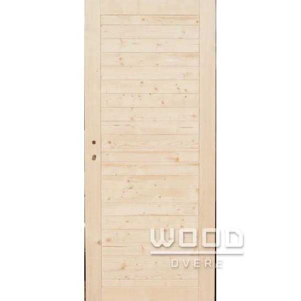 Palubkové dveře plné vodorovné