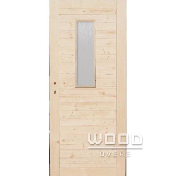 Palubkové dveře vodorovné se sklem...
