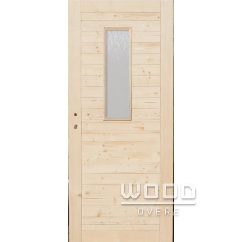 Palubkové dveře vodorovné se sklem