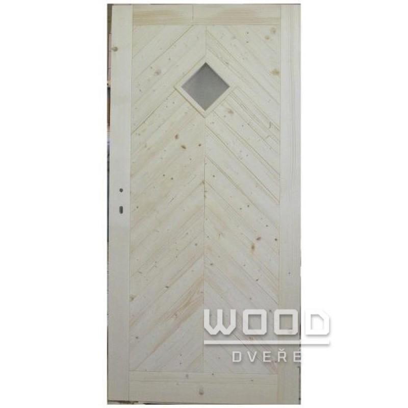 Palubkové dveře stromečkové koso sklo