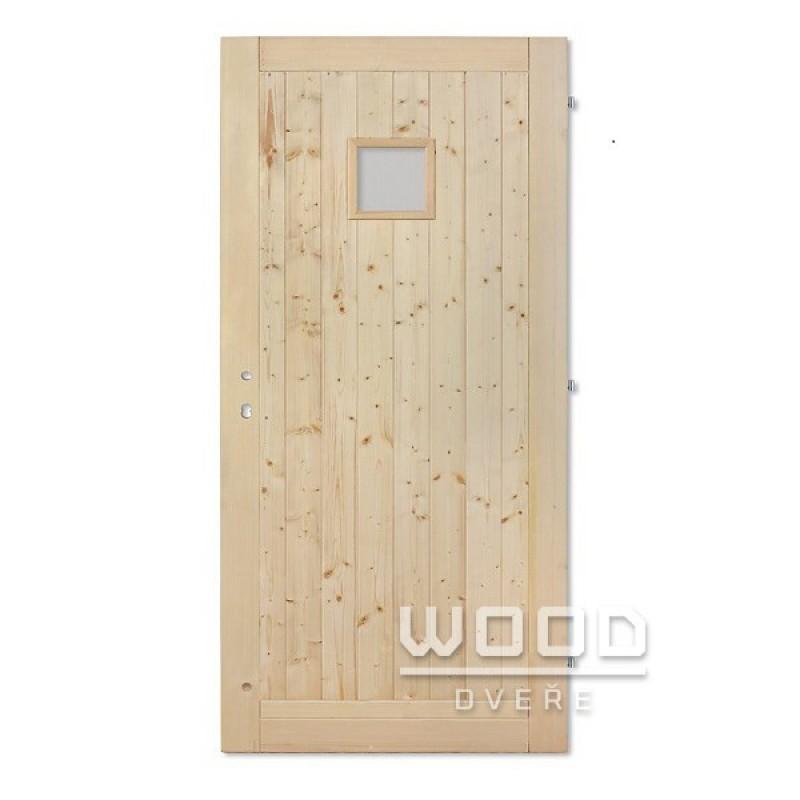 Palubkové dveře se sklem 20x20