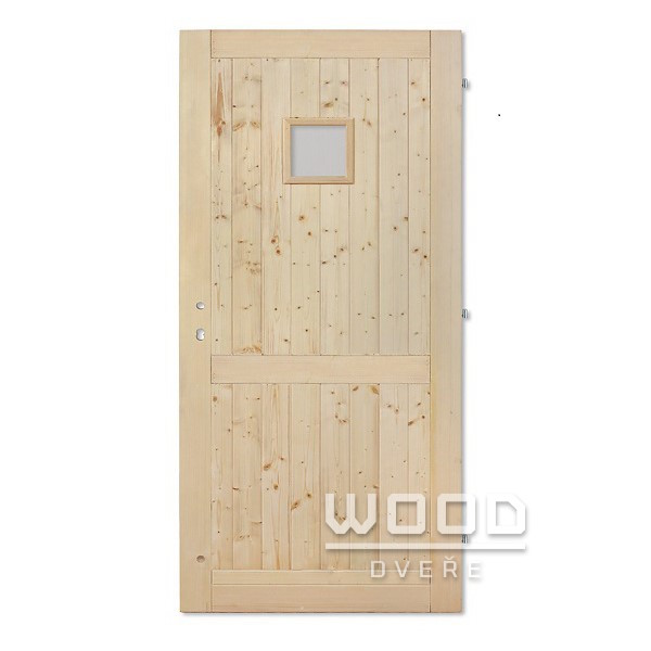 Palubkové dveře s příčkou a sklem 2...
