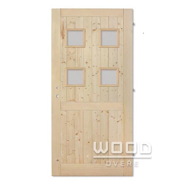 Palubkové dveře s příčkou Quatro sk...