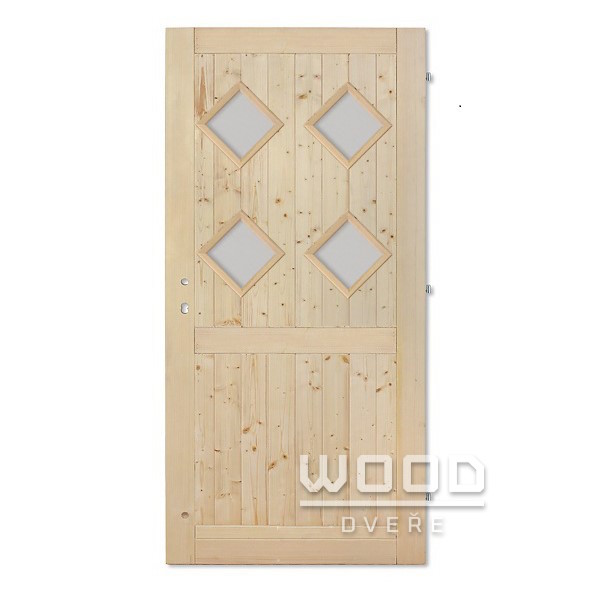 Palubkové dveře s příčkou Koso Quat...