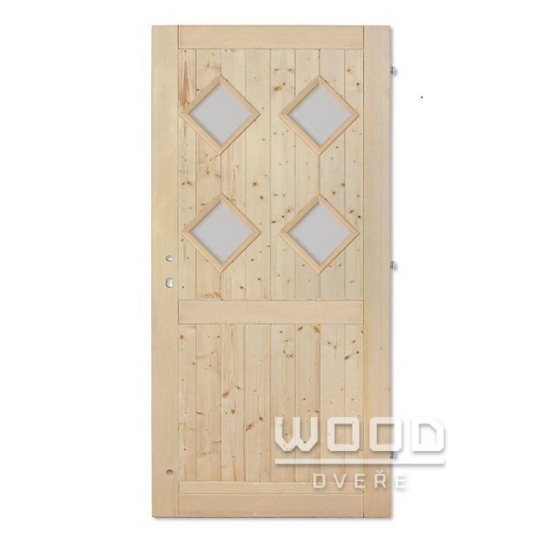 Palubkové dveře s příčkou Koso Quatro