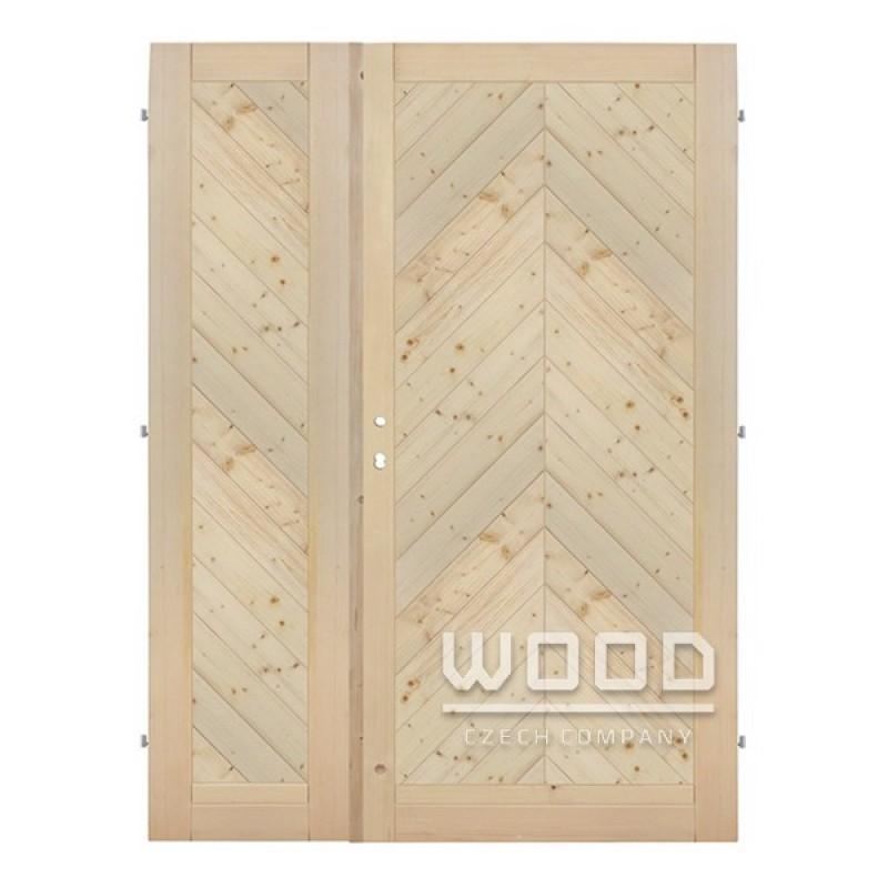 Palubkové dveře dvoukřídlé 145 cm šikmé stromeček