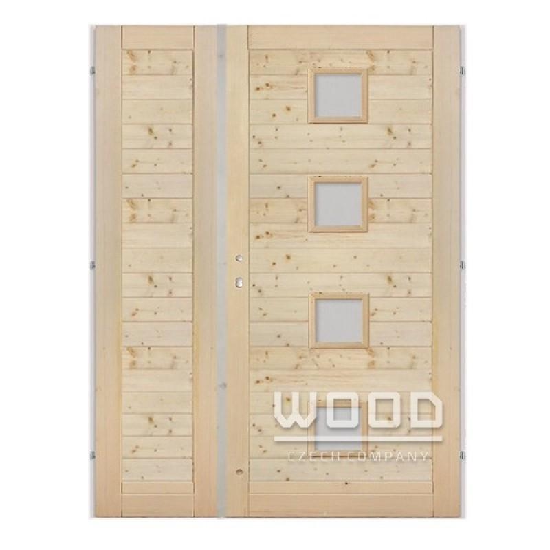Palubkové dveře dvoukřídlé 145 cm Quatro vodorovné střed