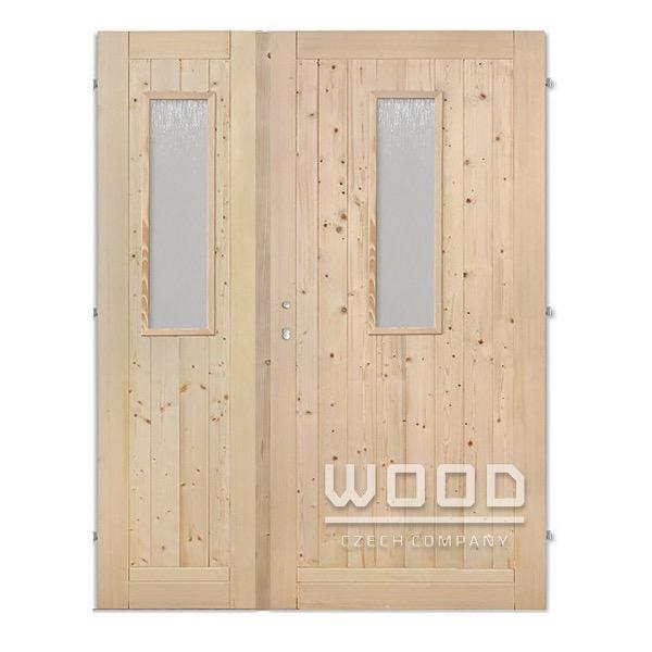 Palubkové dveře dvoukřídlé 145 cm s...