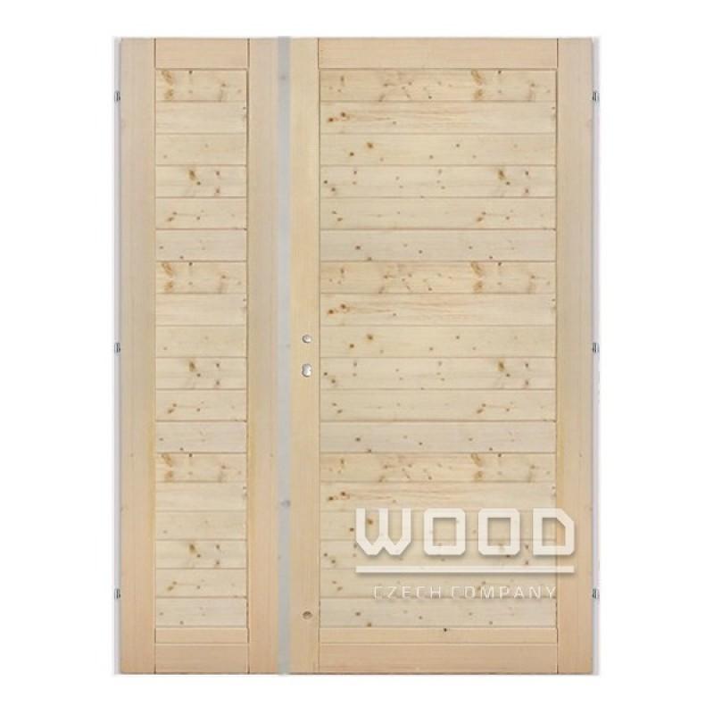 Palubkové dveře dvoukřídlé 160 cm vodorovné