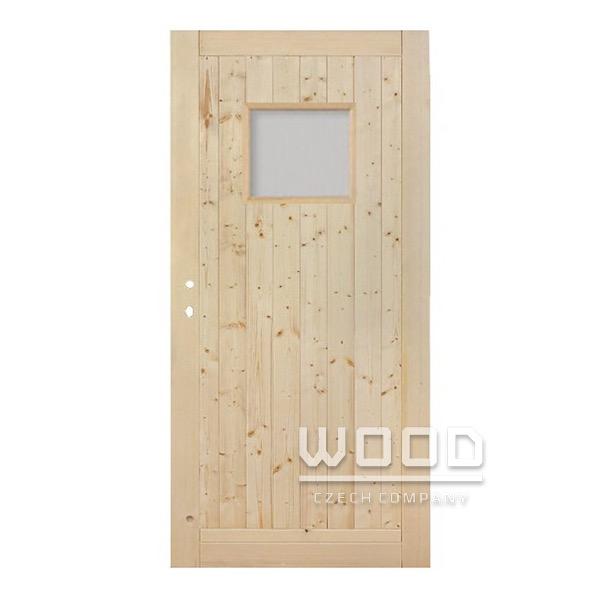 Palubkové dveře se sklem 50x40