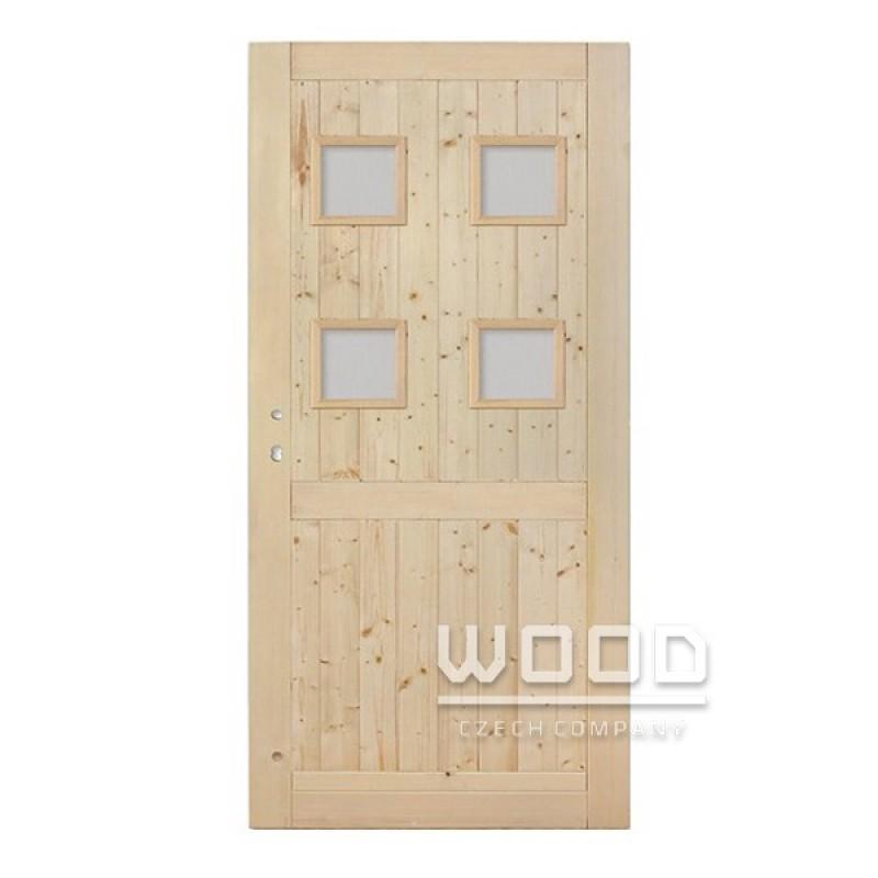 Palubkové dveře Quatro s příčkou