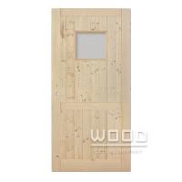 Palubkové dveře s příčkou a sklem 5...