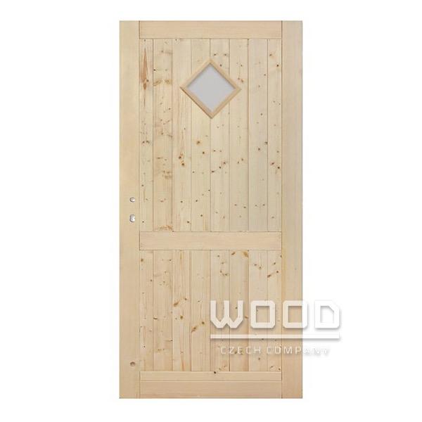 Palubkové dveře s příčkou koso sklo...
