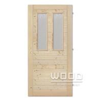 Palubkové dveře vodorovné 2x sklo...