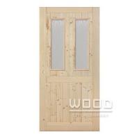 Palubkové dveře 2x sklo s příčkou...